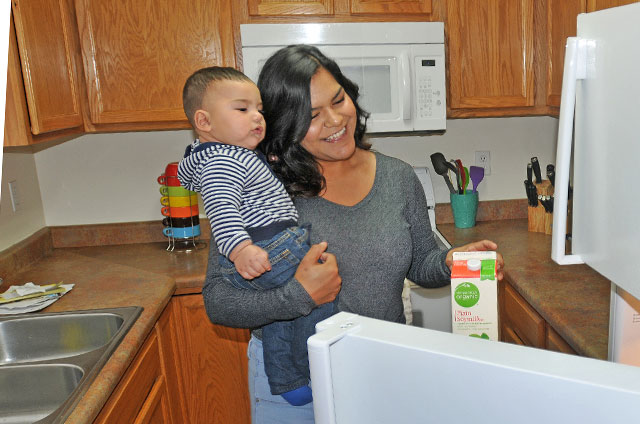 Hot water flowing for single mom